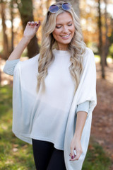 Mint - Oversized Brushed Knit Ombre Top