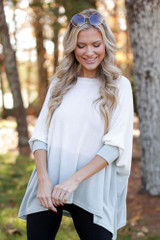 Dress Up model wearing an Oversized Brushed Knit Ombre Top