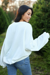 Believe Oversized Pullover Back View