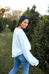 Believe Oversized Pullover Side View