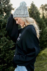 Christmas Calories Oversized Pullover Side View