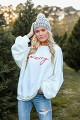 White - Be Merry Oversized Pullover from Dress Up