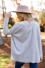 Oversized Velvet Sweater Back View