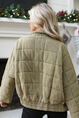 Quilted Knit Jacket Back View