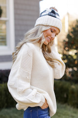 Statement Sleeve Sweater Side View