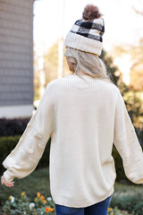 Statement Sleeve Sweater Back View