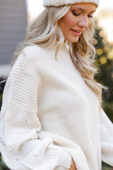 Ivory - Statement Sleeve Sweater from Dress Up
