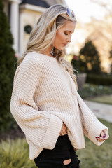Oversized Chenille Sweater Side View