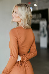 Ribbed Knit Crop Top Back View