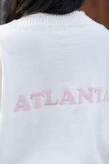Close Up of the Atlanta Distressed Sweater