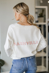 Ivory - Nashville Distressed Sweater