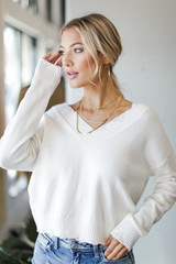 Ivory - Nashville Distressed Sweater from Dress Up