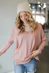 Blush - Soft Knit Sweater Front View