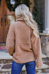 Sherpa Quarter Zip Pullover Back View
