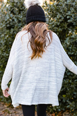 Oversized Brushed Knit Sweater Back View