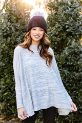 Model wearing an Oversized Brushed Knit Sweater