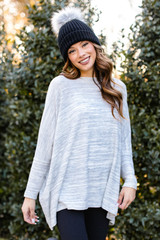 Dress Up model wearing an Oversized Brushed Knit Sweater