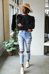 Black - Puff Sleeve Sweater from Dress Up