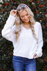 Lizzie Fuzzy Knit Sweater
