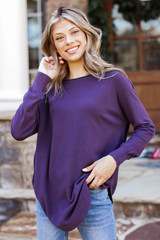 Purple - Soft Knit Sweater from Dress Up