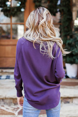 Soft Knit Sweater from Dress Up in Purple Back View