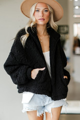 Black - Sherpa Jacket from Dress Up