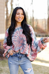 Multi - Oversized Tie-Dye Pullover from Dress Up