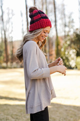 Oversized Waffle Knit Top Side View