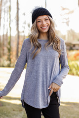 Grey - Oversized Knit Top  from Dress Up