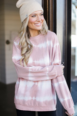 Mauve - Oversized Tie-Dye Pullover from Dress Up