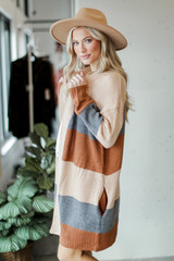 Color Block Sweater Cardigan Side View