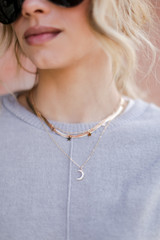 Gold - Star + Moon Layered Necklace