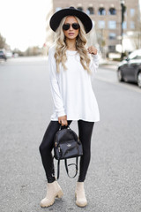 Ivory - Oversized Jersey Knit Top from Dress Up