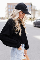 Ribbed Knit Crop Top Side View