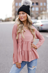 Blush - Tiered Babydoll Top