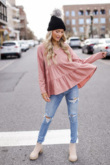 Blush - Tiered Babydoll Top from Dress Up