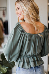 Ruffled Blouse Back View