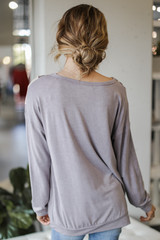 Oversized Leopard Chevron Pullover Back View