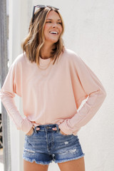 Blush - Oversized Pullover Front View