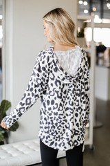 Oversized Leopard Hoodie Back View