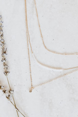 Gold - Pearl + Rhinestone Layered Necklace from Dress Up