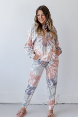 Grey - Oversized Tie-Dye Pullover from Dress Up