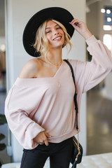 Blush - Ribbed Knit Pullover from Dress Up