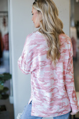 Oversized Camo Pullover Back View