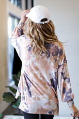 Oversized Tie-Dye Pullover Back View