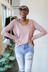 Basic Oversized Knit Top in Mauve Front View