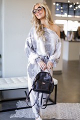 Grey - Tie-Dye Cropped Pullover from Dress Up