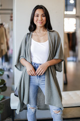Olive - Ribbed Knit Cardigan from Dress Up