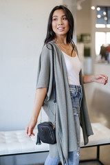 Ribbed Knit Cardigan Side View