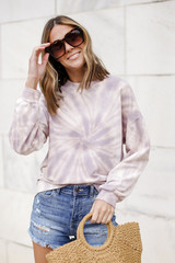 Lavender - Oversized Tie-Dye Pullover from Dress Up